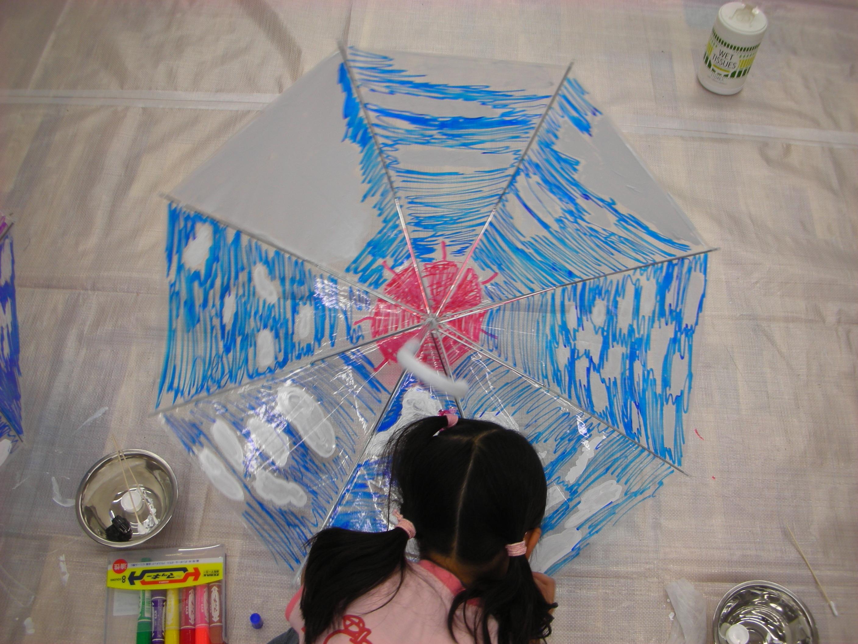 ビニール傘に空を描く