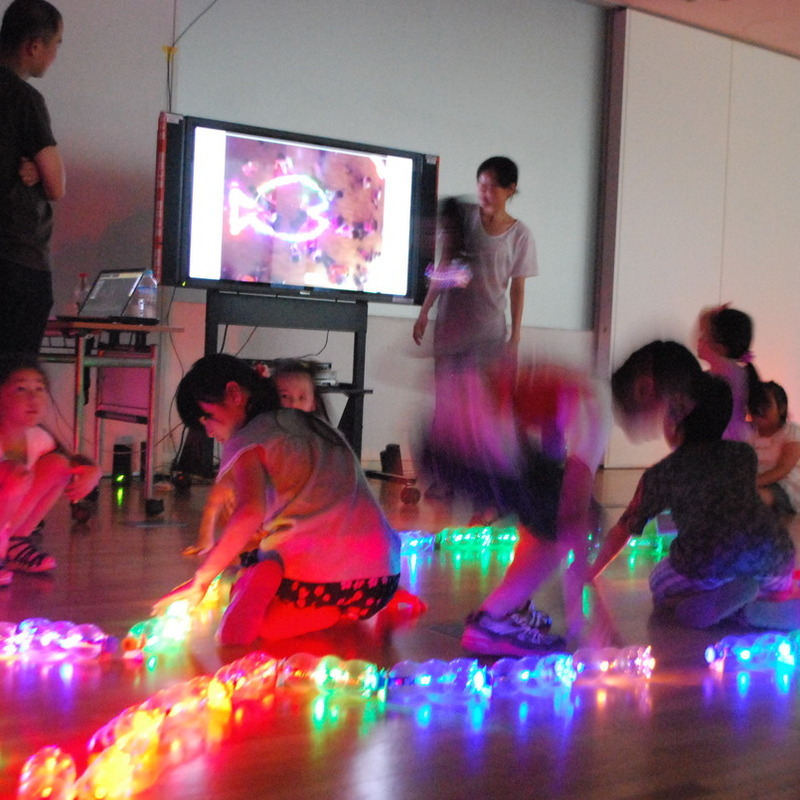 2015年7月19日(日)<br>「ひかりでつくるアニメーション」<br>(小学生クラス)in東大