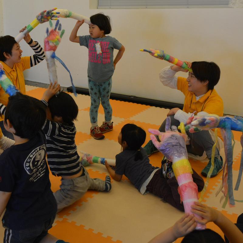 2015年4月26日(日)<br>「ニセモノの手であくしゅとバイバイ」<br>(幼児クラス)in代官山
