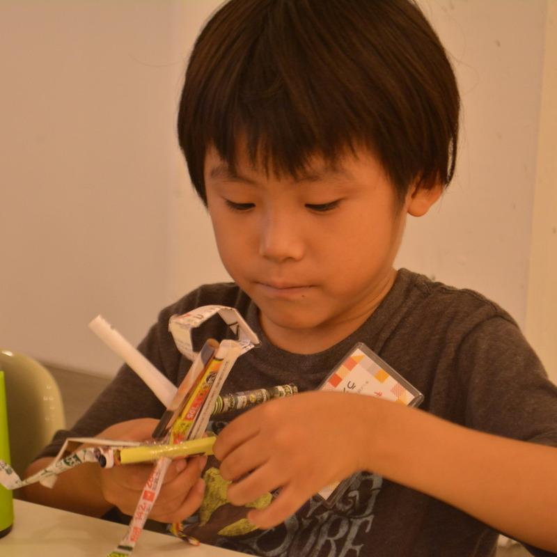 2015年9月27日(日)<br>「文字スティックの棒人間と、、?」<br>(小学生クラス)in代官山