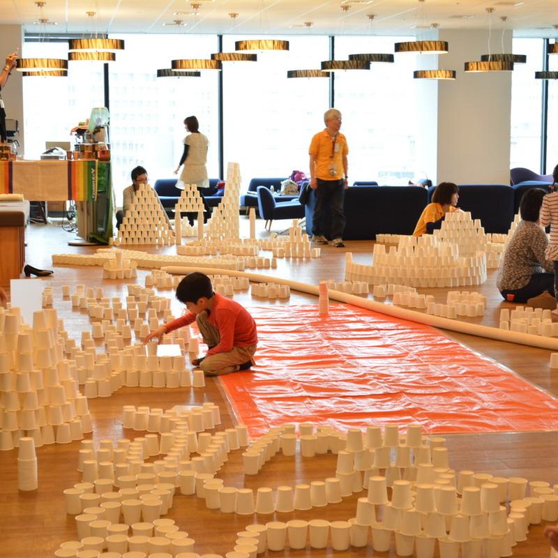2015年4月5日(日)<br>「1万個の紙コップの造形」<br>(幼児クラス)in渋谷