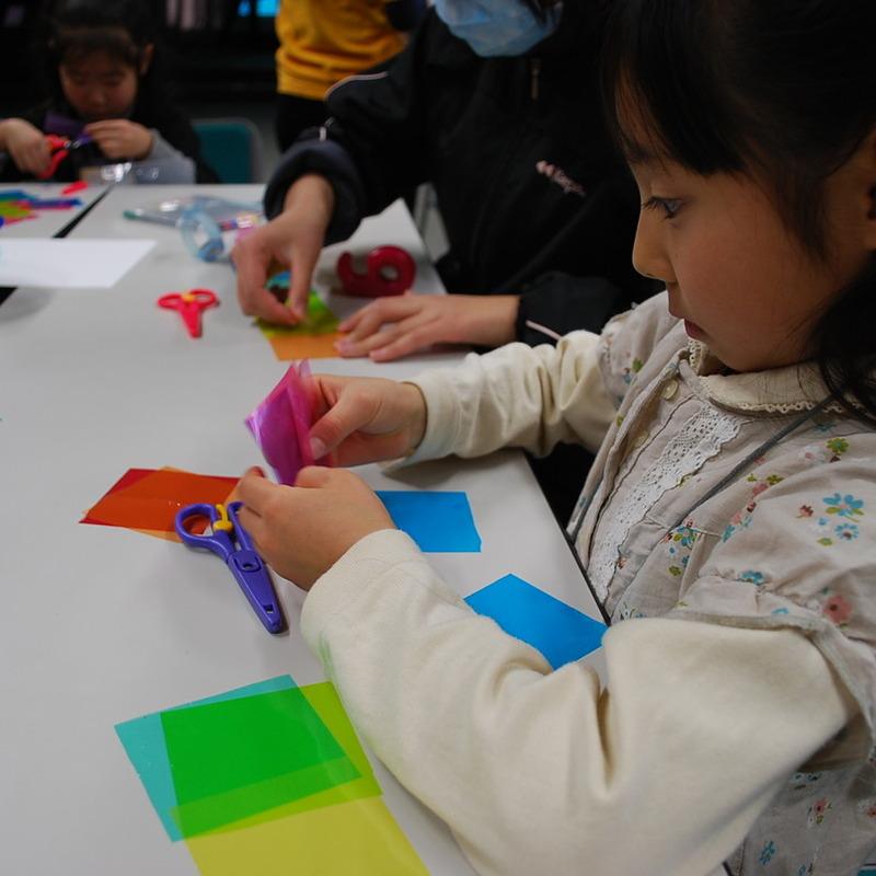 2010年2月7日(日)「ヒカリでつくる」(小学生クラス)in早稲田