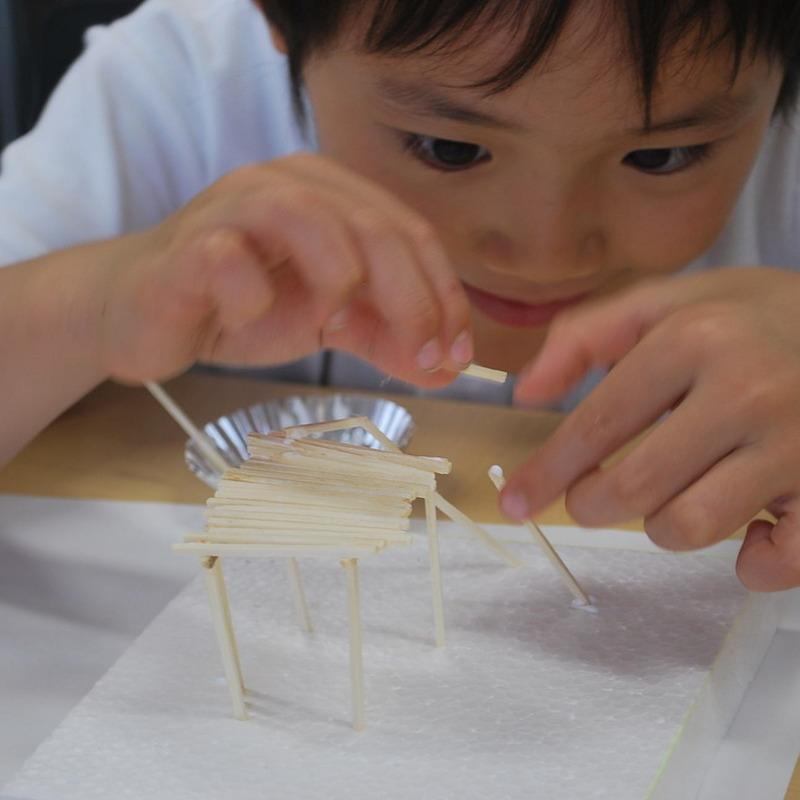 2011年6月26日(日)<br>「マッチ棒の構造」<br>(小学生クラス)in慶應日吉