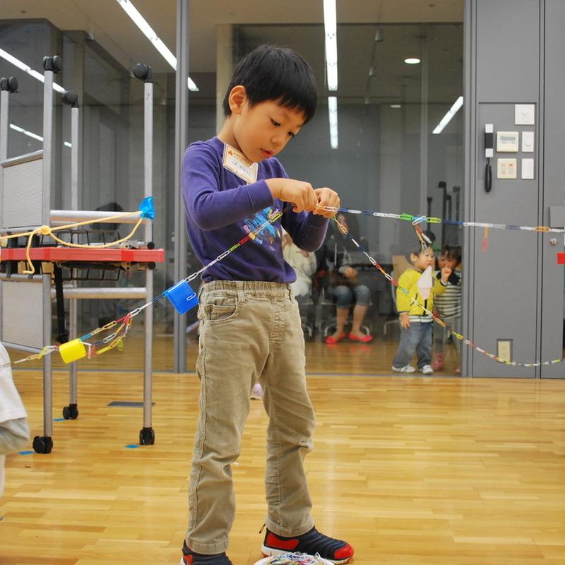 2013年10月20日(日)<br>「カラークリップの造形」<br>(幼児クラス)in東大