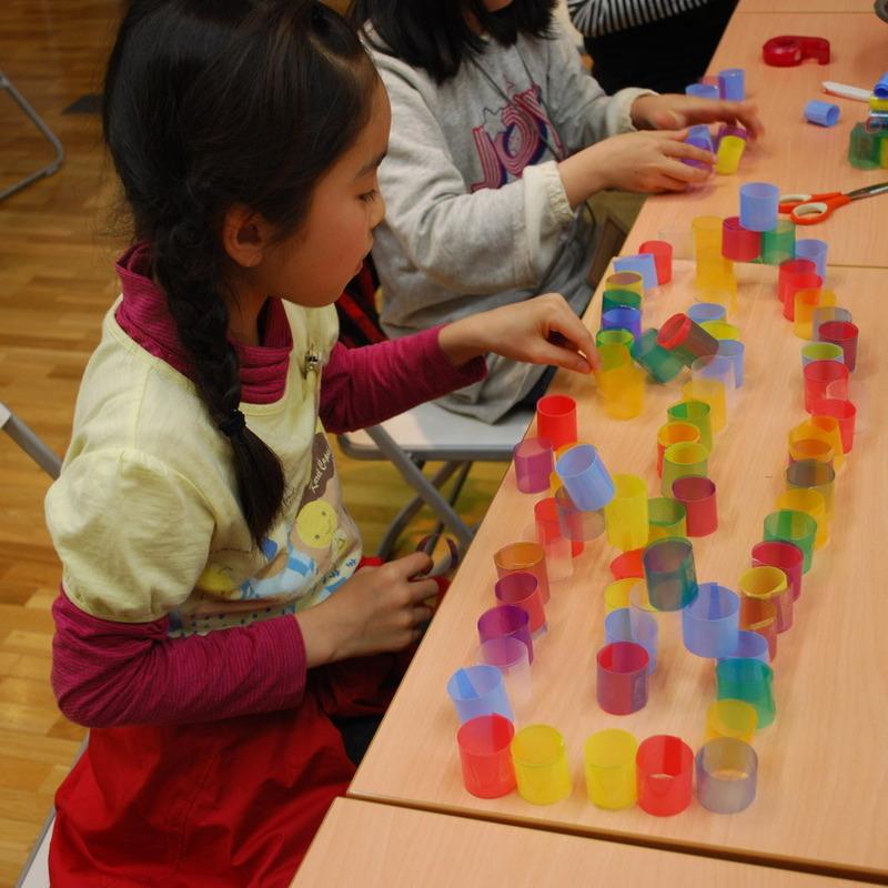 2012年4月15日(日)<br>「クリアファイルのわっか」<br>(小学生クラス)in東大