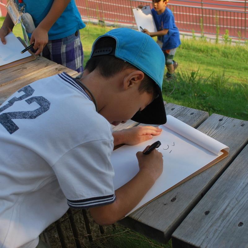 2011年8月14日(日)「オノマトペで感じる・つくる」(小学生クラス)in慶應日吉