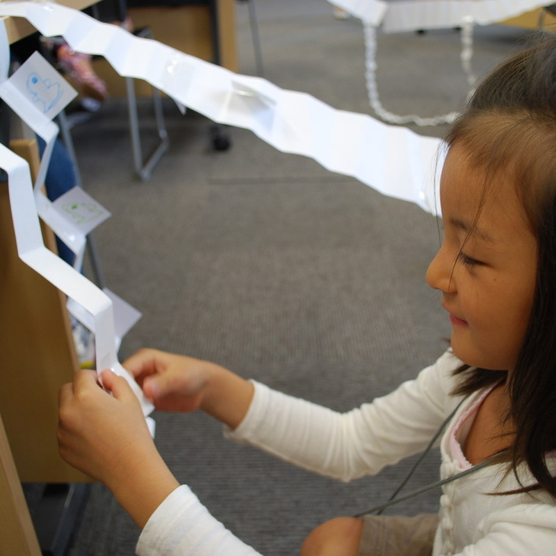 2011年9月25日(日)<br>「紙の階段」<br>(幼児クラス)in慶應日吉