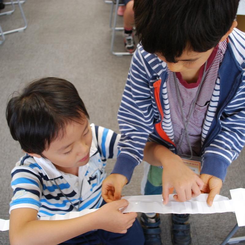 2011年9月25日(日)「紙の階段」(小学生クラス)in慶應日吉