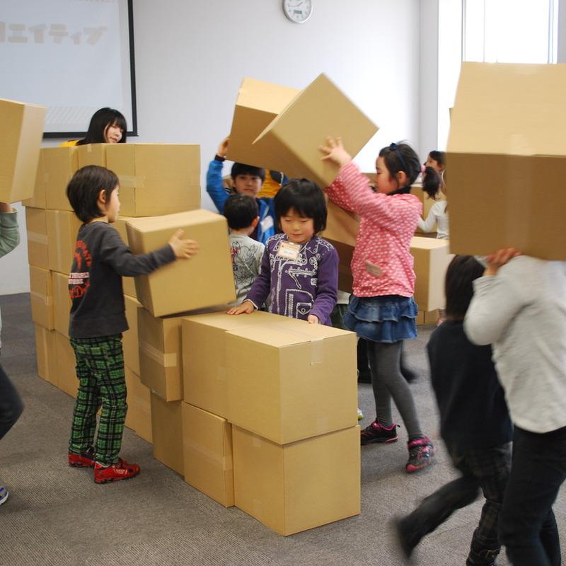2012年3月11日(日)<br>「真っ暗づくり」<br>(幼児クラス)in慶應日吉