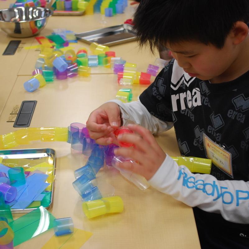 2012年4月22日(日)「クリアファイルのわっか」(小学生クラス)in慶應日吉
