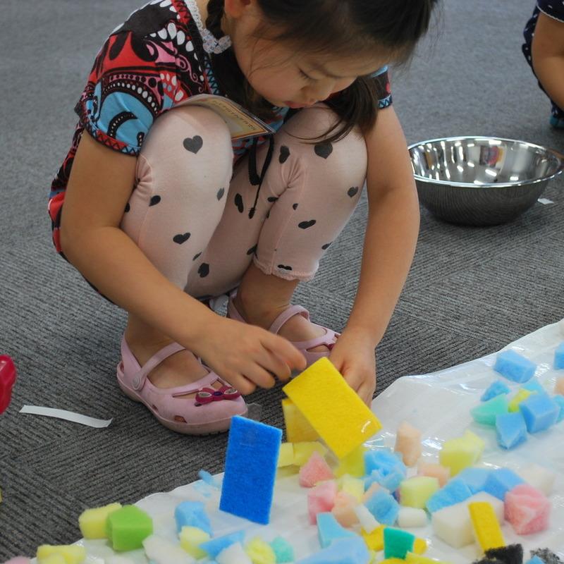 2012年6月10日(日)<br>「スポンジの絵」<br>(幼児クラス)in慶應日吉