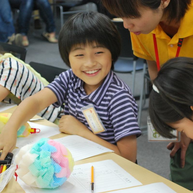 2012年6月10日(日)「スポンジ袋とその使い方の考案」(小学生クラス)in慶應日吉