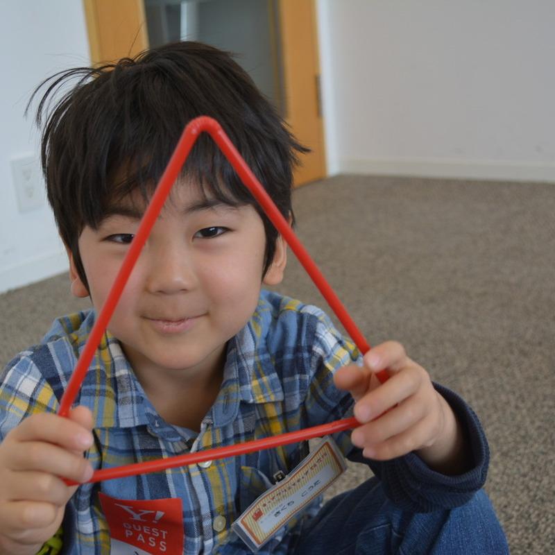 2015年3月15日(日)「ストローでつくるかたち」 (幼児クラス)in六本木