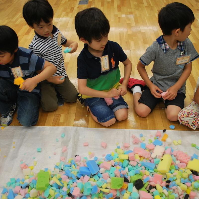 2012年6月17日(日)<br>「スポンジの絵」<br>(幼児クラス)in東大