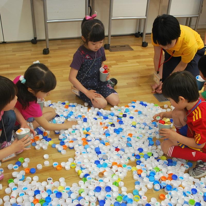 2011年5月15日(日)「キャップ10.000個の造形」(幼児クラス)in東大