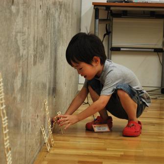2011年8月21日(日)<br>「マッチ棒のはしご」<br>(幼児クラス)in東大