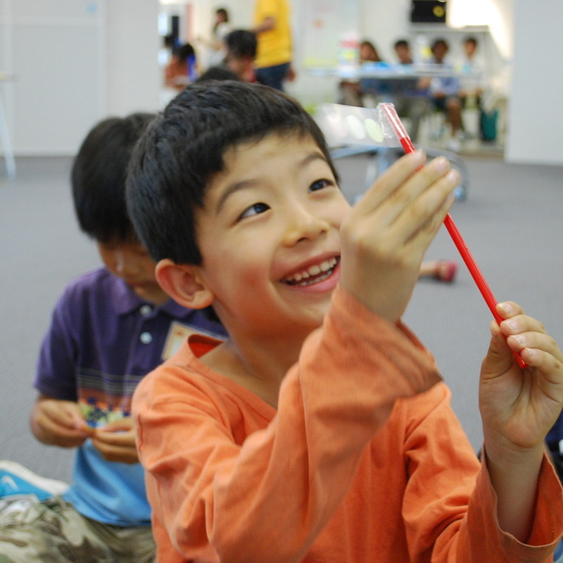 2012年7月22日(日)「ねっつGO!~まわりのお熱をキャッチングー!~」(小学生クラス)in二子玉川
