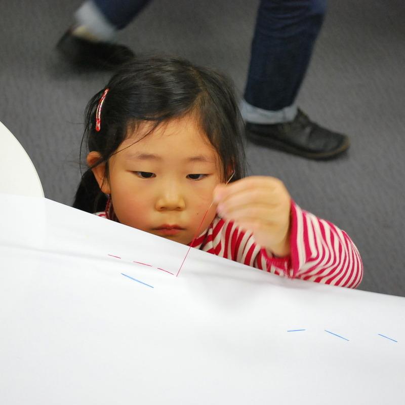 2012年12月23日(日)<br>「ステッチでぬいぬい模様」<br>(幼児クラス)in二子玉川