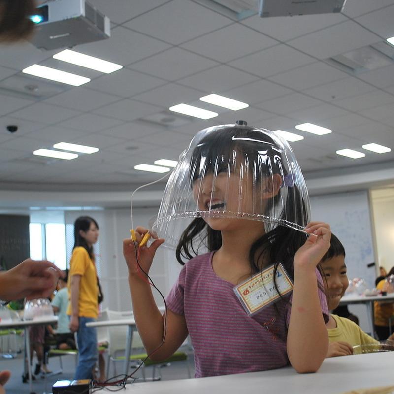 2013年8月25日(日)<br>「ドームスピーカーづくり」<br>(幼児クラス)in二子玉川