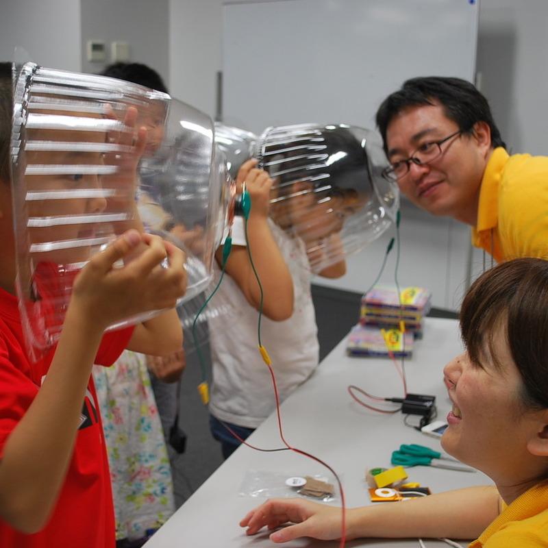2013年8月4日(日)<br>「ドームスピーカーづくり」<br>(小学生クラス)in明治