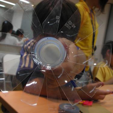2009年5月17日(日)「風で光る!ウインドボール」(小学生クラス)in東大
