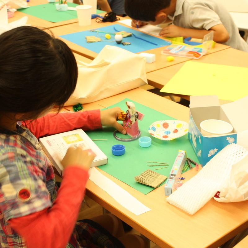 2009年6月21日(日)<br>「ガラクタコラージュの図鑑づくり」<br>(幼児クラス)in東大