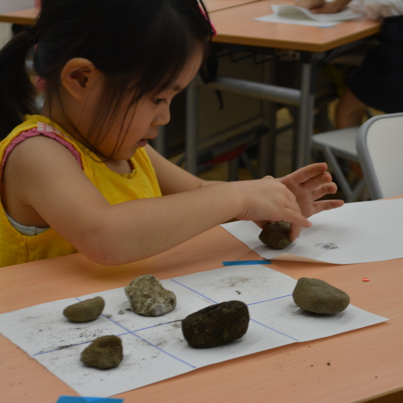 2016年7月17日(日)<br>「石ころラボでかんさつしよう!」<br>(幼児クラス)in東大本郷