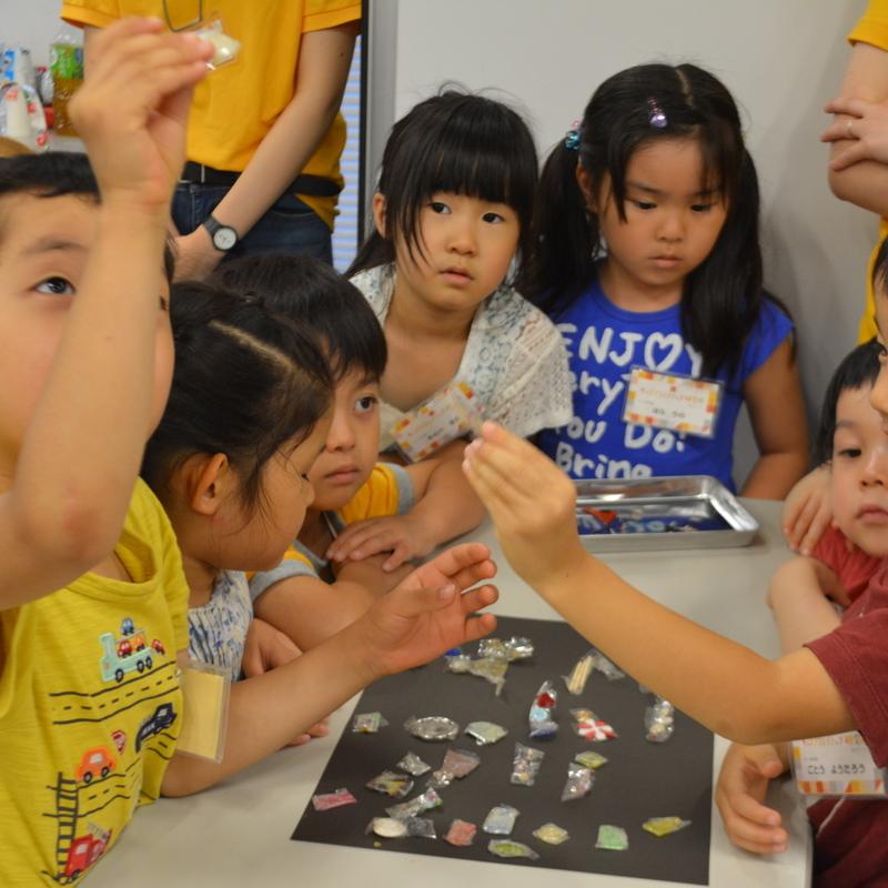 2016年8月6日(土)「セロハンテープの水晶板」(幼児クラス)inデジハリ