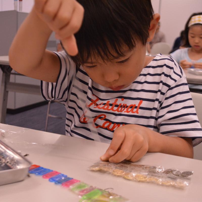 2016年8月6日(土)<br>「セロハンテープの水晶板」<br>(小学生クラス)inデジハリ