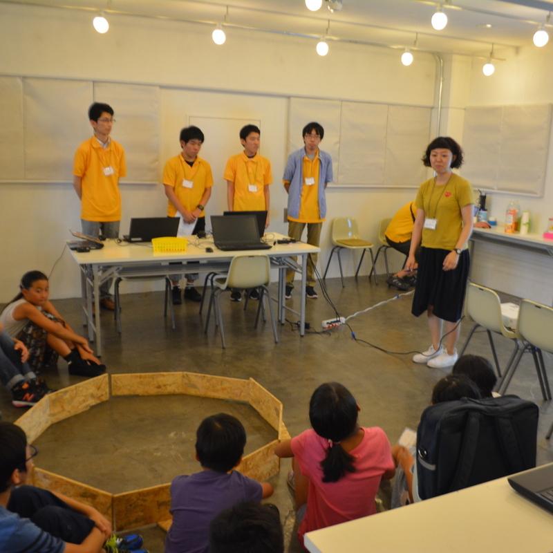 2016年8月2日(火)サマーキャンプ2016プログラミング講座<br>ロボットの鬼ごっこゲームをしよう!