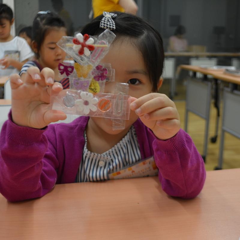 2016年8月21日(日)<br>「セロハンテープの水晶板」<br>(幼児クラス)in東大本郷