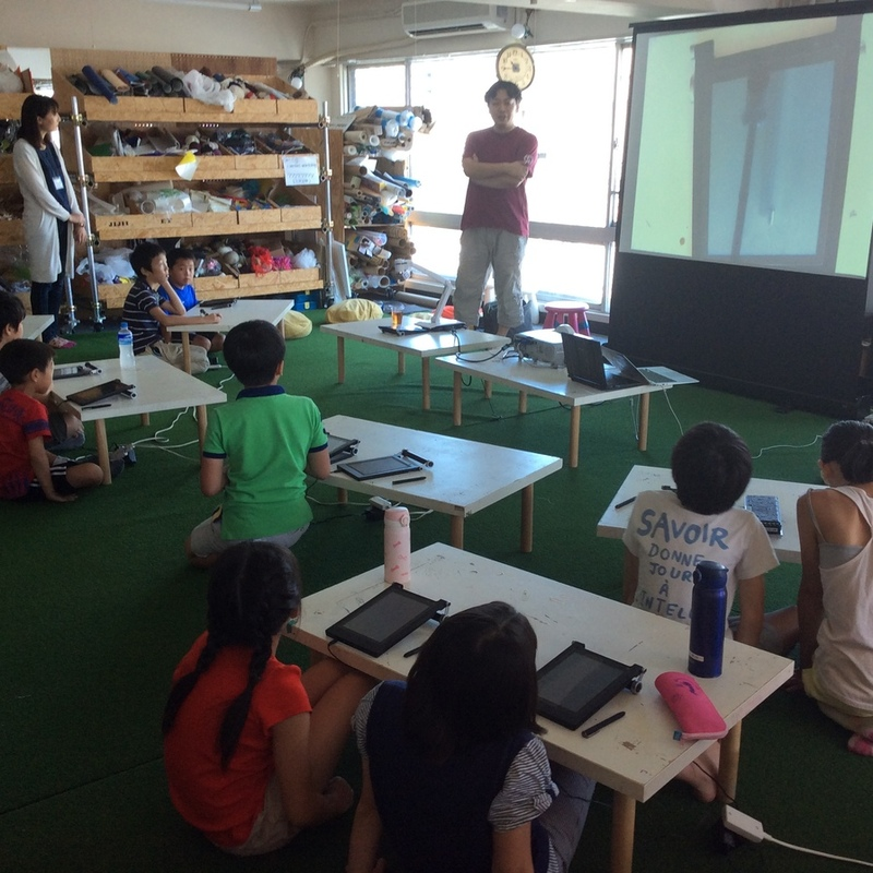 2016年8月7日(日)サマーキャンプ2016プログラミング講座エンチャントムーンキッズワークショップ in田原町