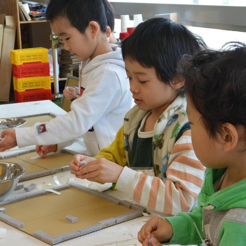 2017年3月12日(日)<br>「すき間テープの迷路」<br>(幼児クラス)in田原町