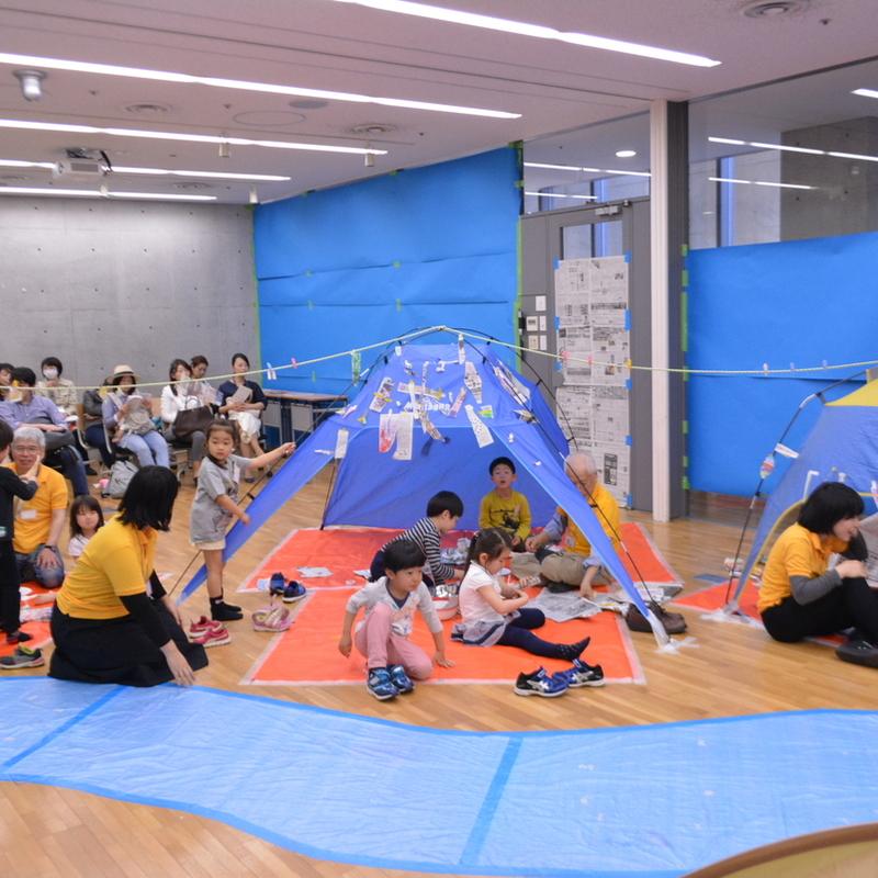 2017年4月16日(日)「かみだけでキャンプをつくる」(幼児クラス)in東大本郷