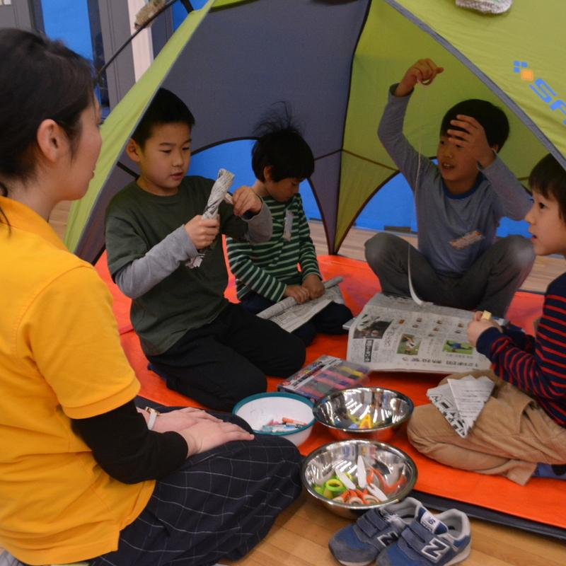 2017年4月23日(日)<br>「造形キャンプ~仮想2泊3日~」<br>(小学生クラス)in東大本郷