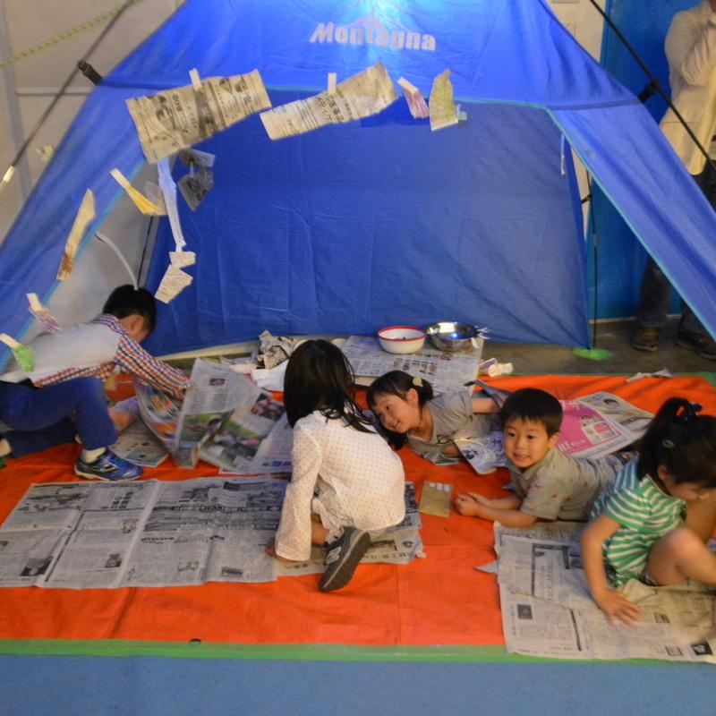 2017年4月30日(日)<br>「かみだけでキャンプをつくる」<br>(幼児クラス)in代官山
