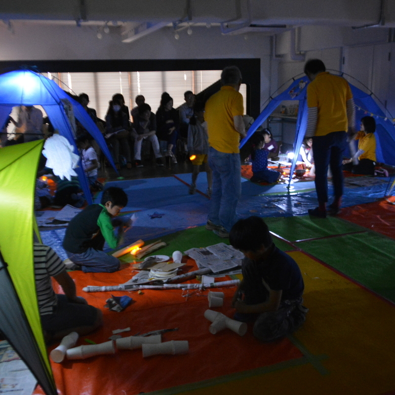 2017年4月30日(日)<br>「造形キャンプ~仮想2泊3日~」<br>(小学生クラス)in代官山
