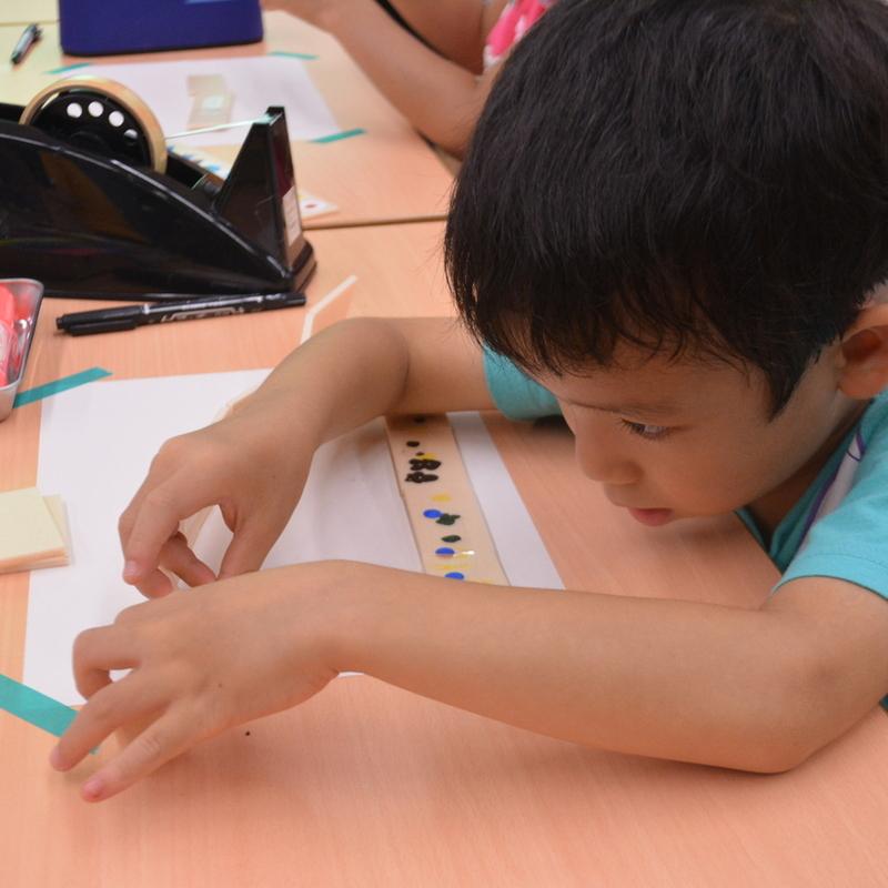 2017年7月16日(日)「すごくていねいに!いたとテープでつくる」(幼児クラス)in東大本郷