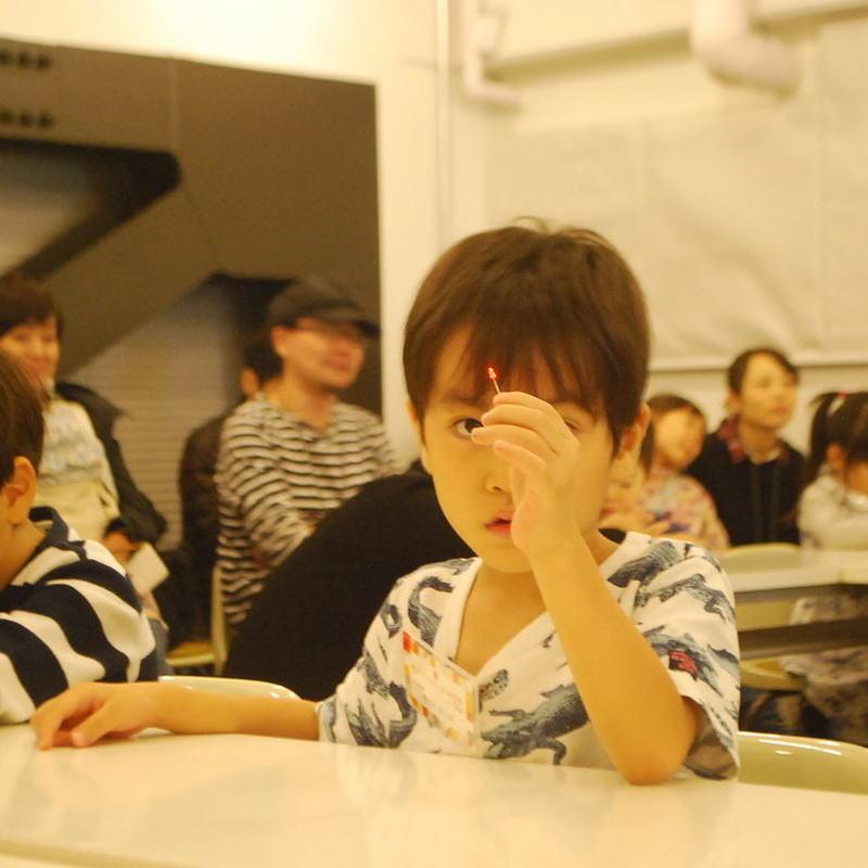 2017年10月29日(日)「光るオリジナルLEDをつくろう」(幼児クラス)in代官山