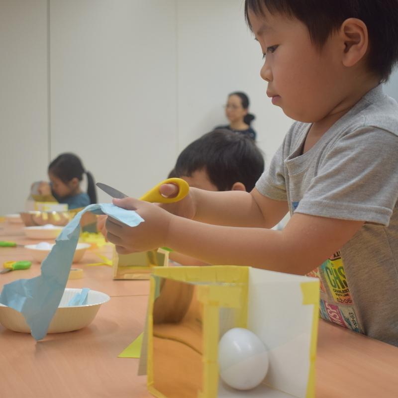 2018年4月15日(日)「たまごがわれないようにはこをつくってだいじにそっともちかえる」(幼児クラス)in東大本郷