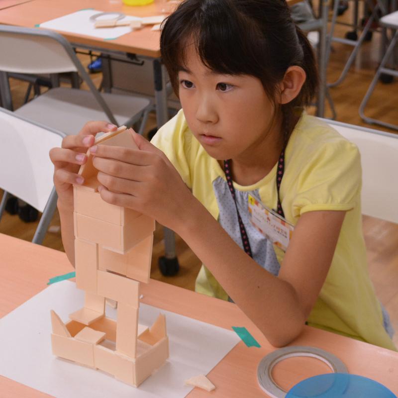 2017年7月23日(日)「ていねいにきっちり!板とテープでなにつくる?」(小学生クラス)in東大本郷