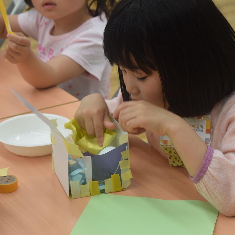 2018年4月22日(日)「たまごがわれないようにはこをつくってだいじにそっともちかえる」(幼児クラス)in東大本郷