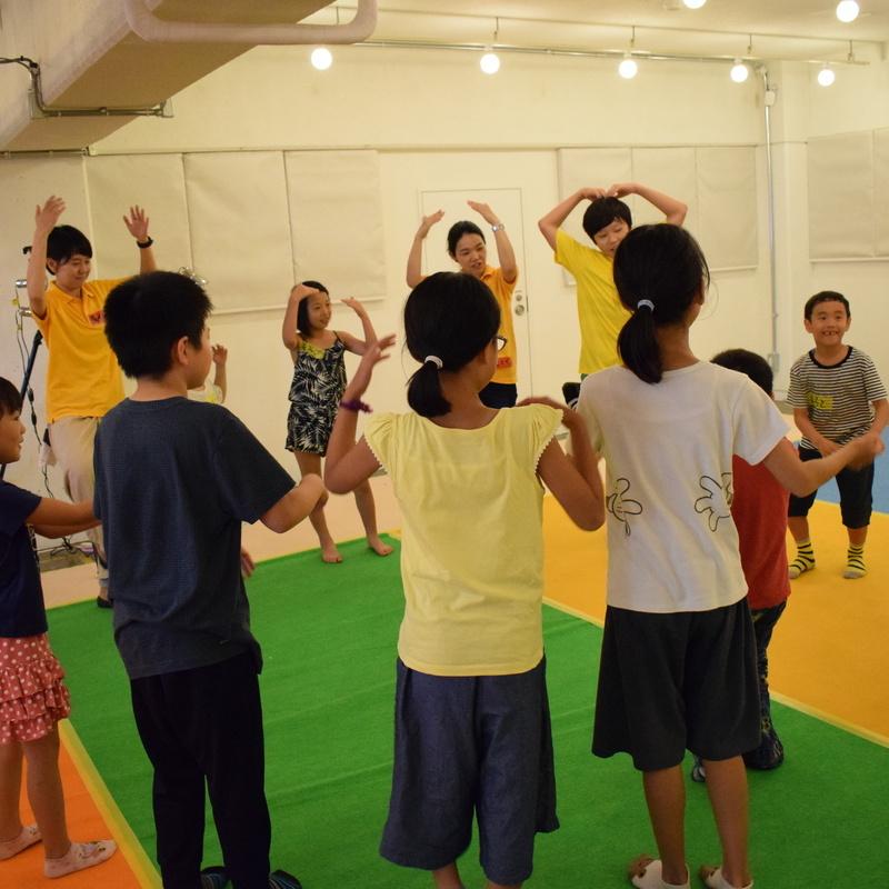 2018年8月26日(日)<br>「からだカタカタ アトカタリレー」<br>(小学生クラス)in代官山