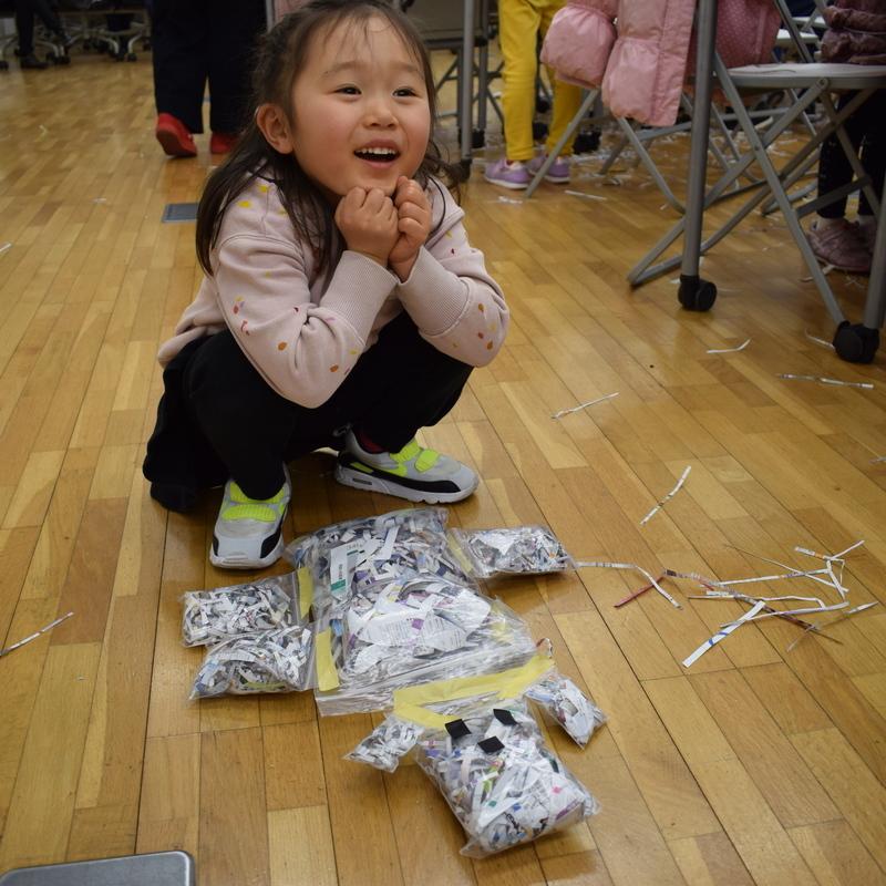 2019年3月17日(日)<br>「こまかく切って犬にんぎょうつくり」<br>(幼児クラス)in東大本郷