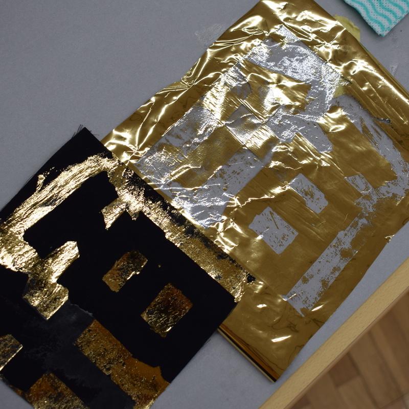 2020年1月26日(日)「金箔銀箔でつくるかたちのおもてうら」(小学生クラス)in東大本郷