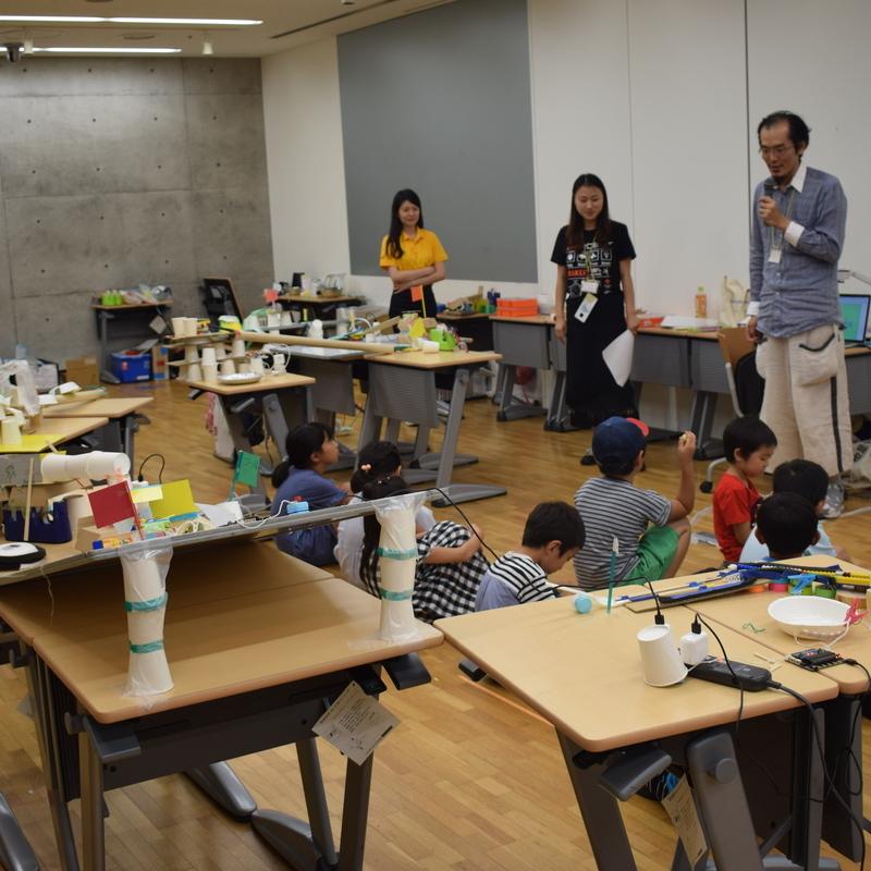 2019年8月13日<br>「サマーキャンプ2019 STEAM講座 かわいい電子ブロックで、からくり装置をつくろう!」in 東大本郷