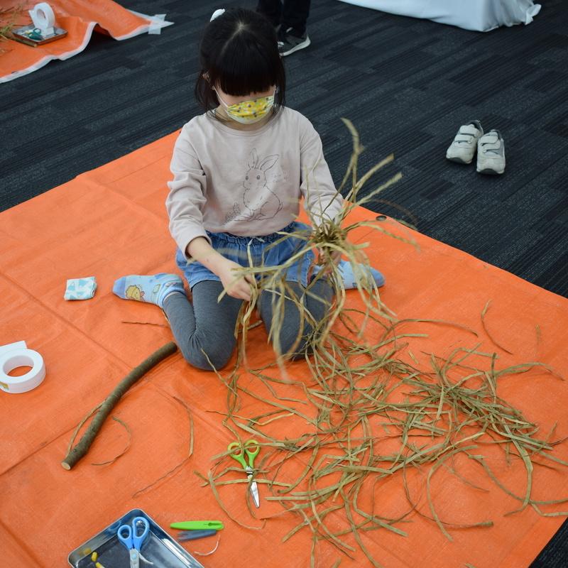 2020年10月25日(日)<br>「ほうきを作って掃除する」(小学生クラス)in 竹芝