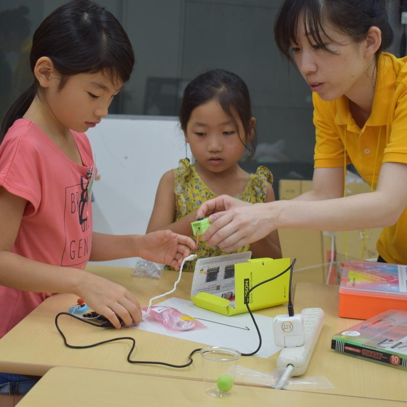 2019年8月13日「サマーキャンプ2019 STEAM講座 かわいい電子ブロックで からくり装置をつくろう!」in 東大本郷