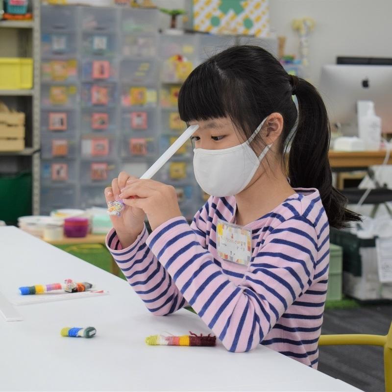 2021年10月17日(日)「毛糸のキリンの模様」(小学生クラス)in 竹芝